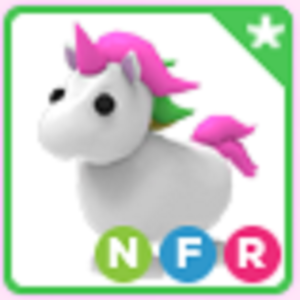 Roblox Adopt me Neon Fly Ride NFR Unicorn