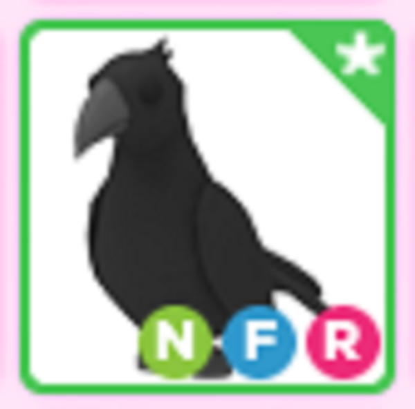 Roblox Adopt me Neon Fly Ride NFR Crow