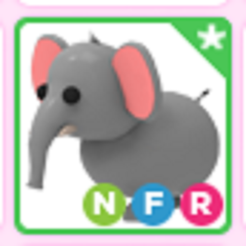 Roblox Adopt me Neon Fly Ride NFR Elephant