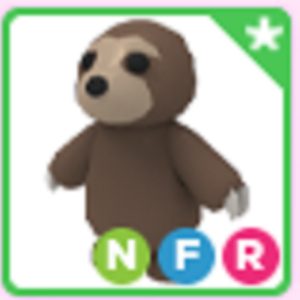 Roblox Adopt me Neon Fly Ride NFR Sloth