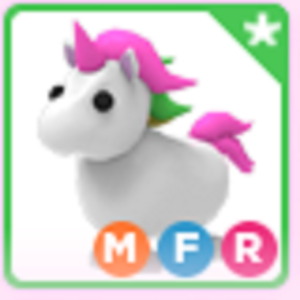 Roblox Adopt me Mega Neon Fly Ride MFR Unicorn