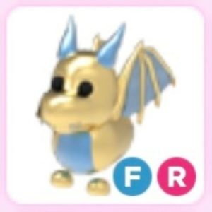 Roblox Adopt me Fly Ride FR Golden Dragon