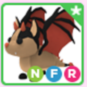 Roblox Adopt me Neon Fly Ride NFR Bat Dragon